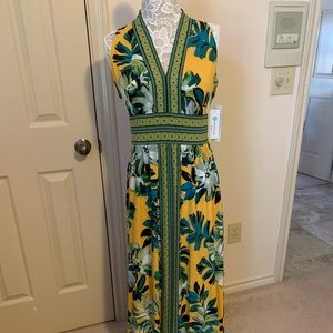 Green and Yellow Summer Dress